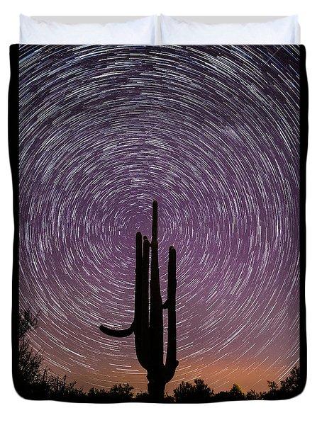 Sonoran Star Trails Duvet Cover
