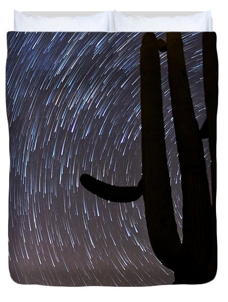 Sonoran Startrails - Reaching For The Stars Duvet Cover