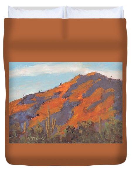 Sonoran Sunset - Art By Bill Tomsa Duvet Cover