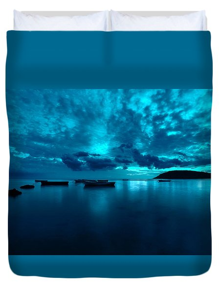 Soon The Night Shall Come Duvet Cover