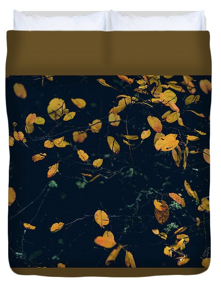 Duvet Cover featuring the photograph Soon They Fall by Gene Garnace