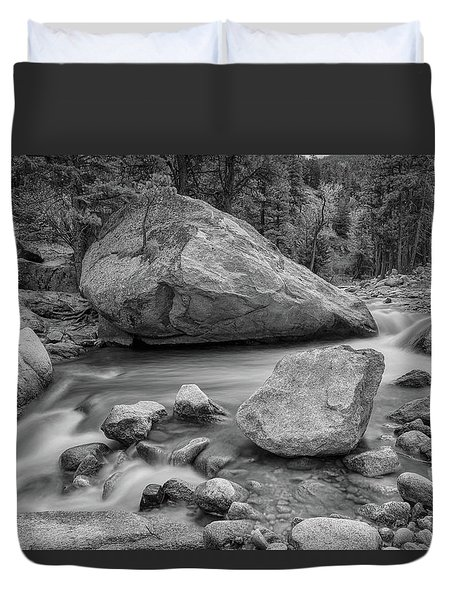 Soothing Colorado Monochrome Wilderness Duvet Cover by James BO Insogna