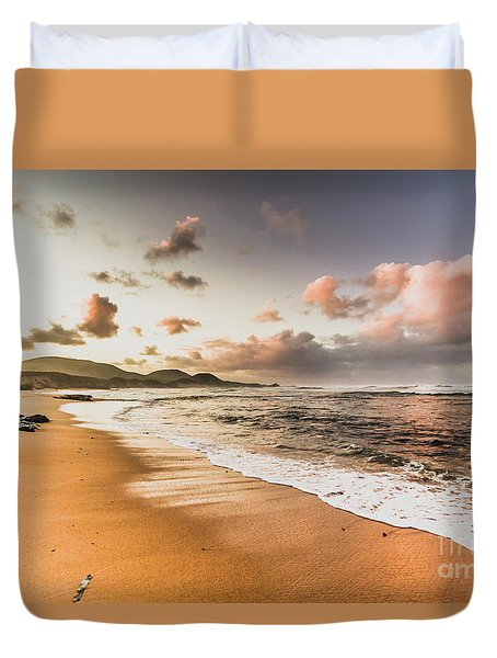 Soothing Seaside Scene Duvet Cover