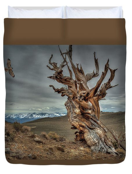 Soaring Over Bristle-cone Pine Duvet Cover