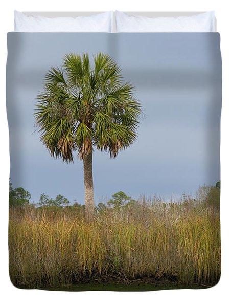 Sopchoppy Palm Duvet Cover