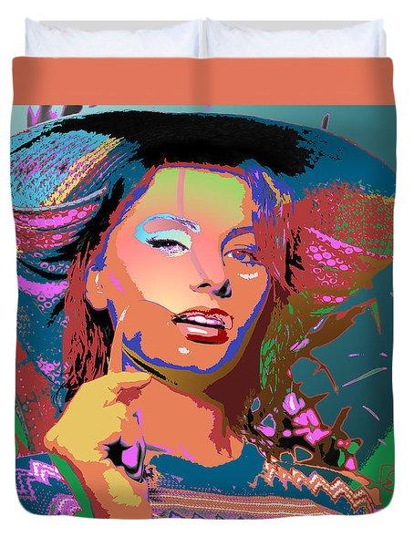 Duvet Cover featuring the digital art Sophia 4 by John Keaton