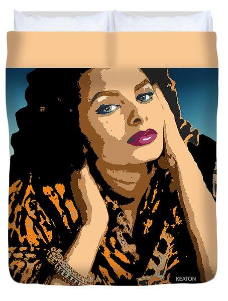 Duvet Cover featuring the digital art Sophia by John Keaton