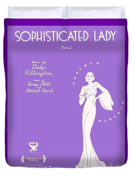 Sophisticated Lady Sheet Music Art Duvet Cover