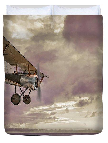 Sopwith Pup Biplane Duvet Cover