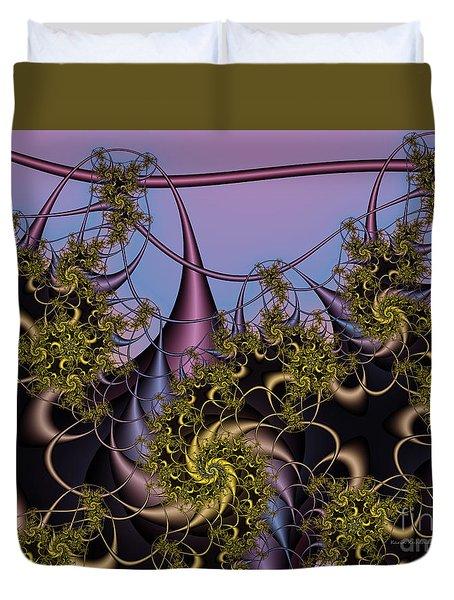 Duvet Cover featuring the digital art Sorcerers Apprentice by Karin Kuhlmann