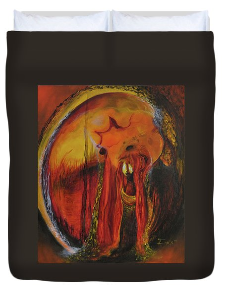 Sorcerer's Gate Duvet Cover by Christophe Ennis