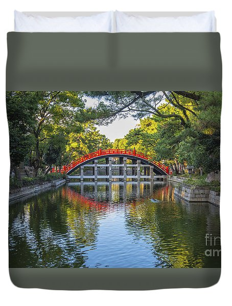 Sorihashi Bridge In Osaka Duvet Cover