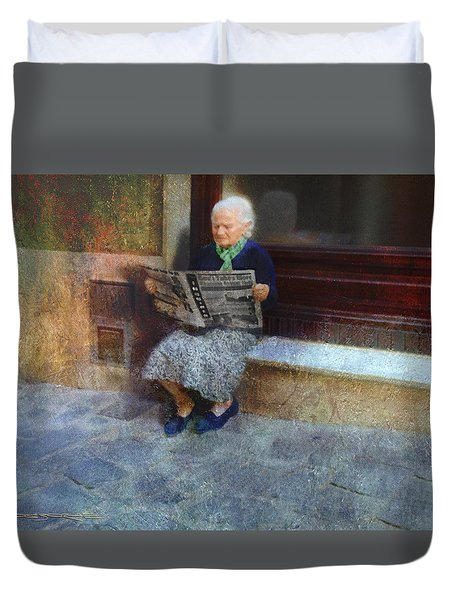 Sorrento News Duvet Cover
