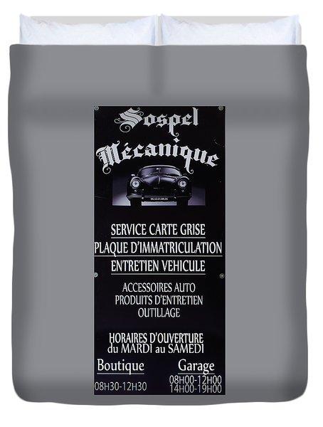 Sospel Mechanic Duvet Cover