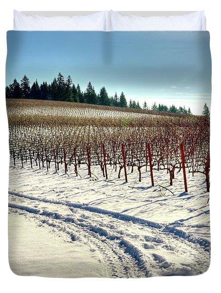Soter Vineyard Winter Duvet Cover