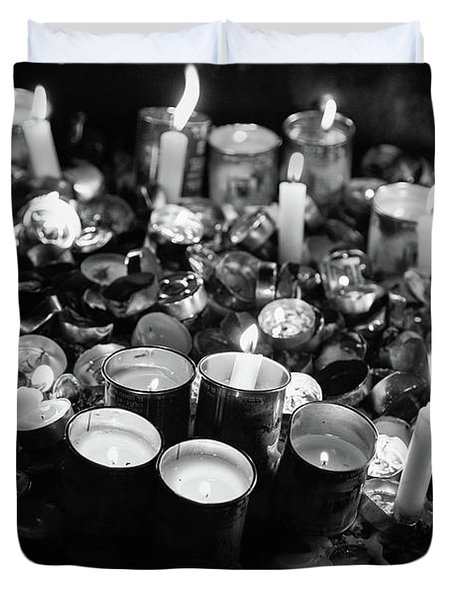 Soul Candles II Duvet Cover