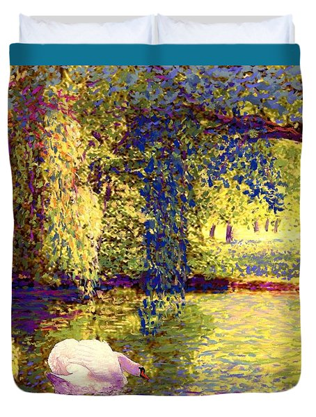 Swans, Soul Mates Duvet Cover