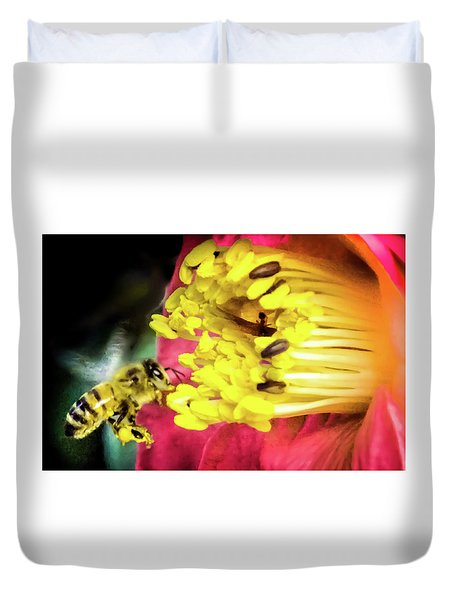 Duvet Cover featuring the photograph Soul Of Life by Karen Wiles