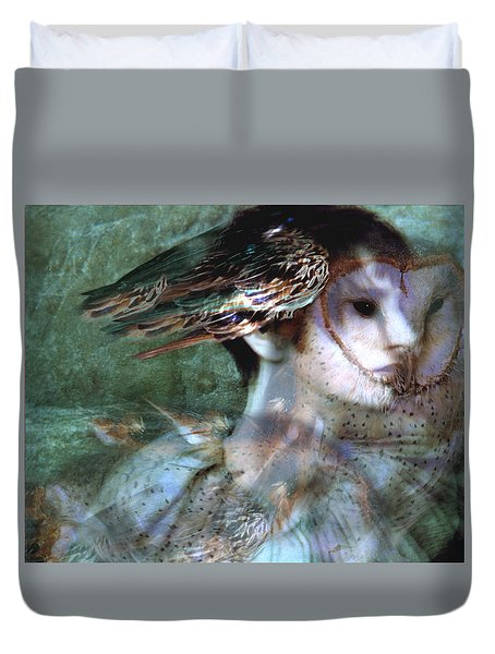 Duvet Cover featuring the painting Soul Portrait by Ragen Mendenhall