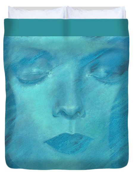 Duvet Cover featuring the painting Soul  by Ragen Mendenhall