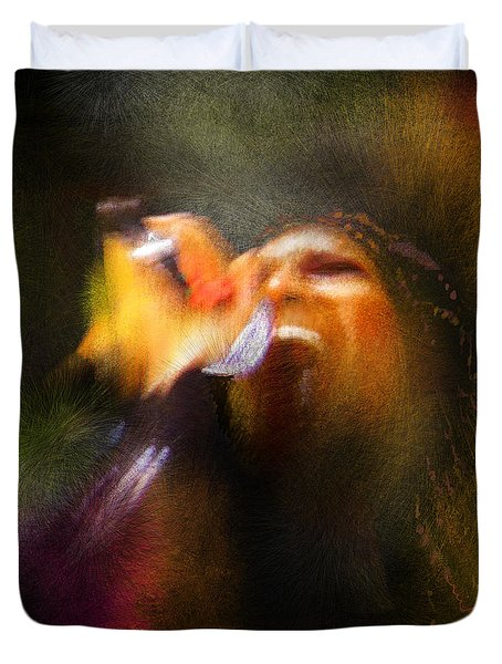 Soul Scream Duvet Cover by Miki De Goodaboom