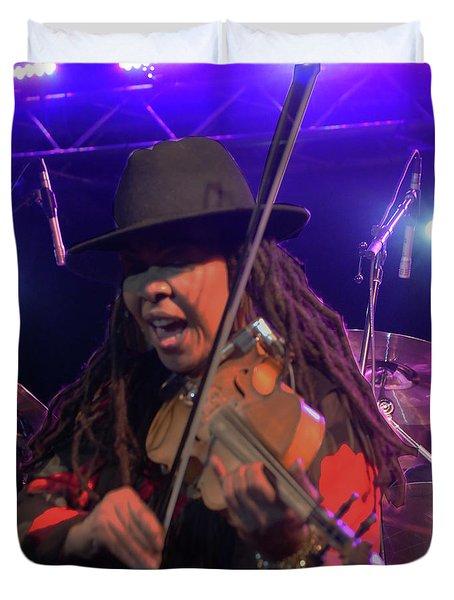 Karen Briggs - Soulchestral Groove Duvet Cover