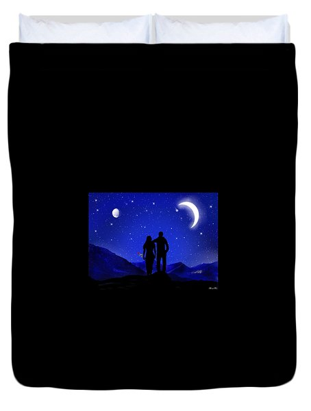 Duvet Cover featuring the digital art Soulmates by Bernd Hau