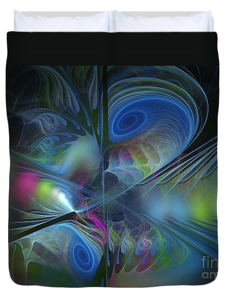 Duvet Cover featuring the digital art Sound And Smoke by Karin Kuhlmann