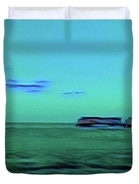 Sound Of A Train In The Distance Duvet Cover