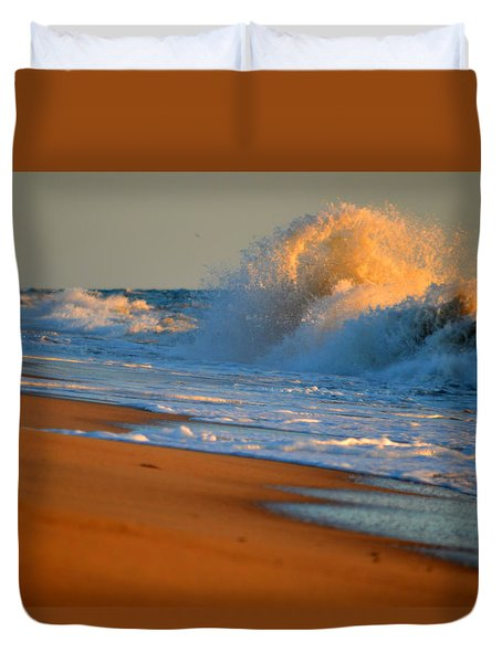 Sound Of The Surf Duvet Cover by Dianne Cowen