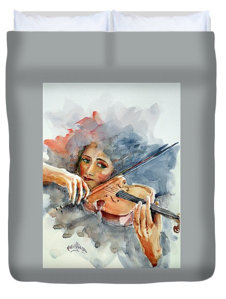 Sound Of Violin... Duvet Cover