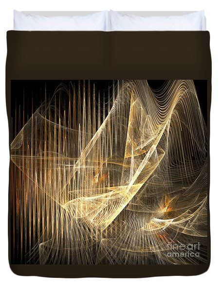 Sound Waves In 3d Duvet Cover