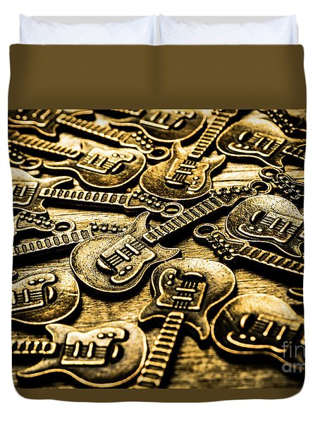 Sounds Of Country And Western Music Duvet Cover