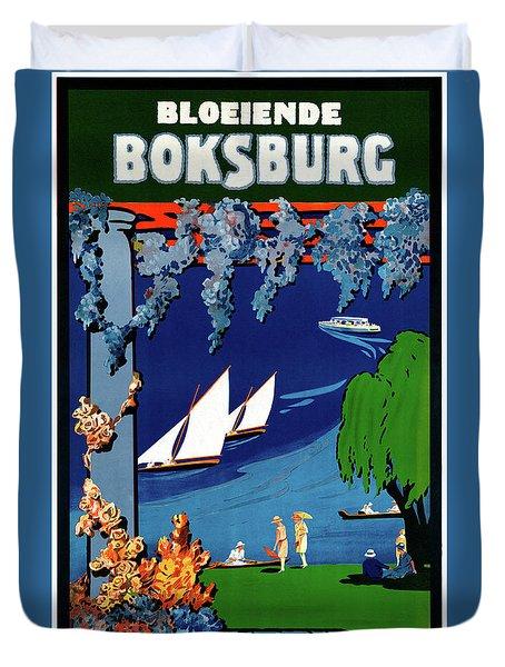 South Africa Boksburg Vintage Travel Poster Duvet Cover by Carsten Reisinger