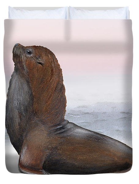 South American Fur Seal Arctocephalus Australis Male - Marine - Seebaer  Duvet Cover