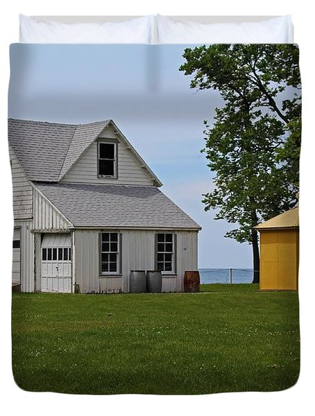 South Bass Island Lighthouse Barn And Oil Storage Building I Duvet Cover