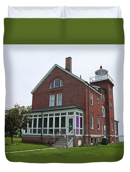South Bass Island Lighthouse- Horizontal Duvet Cover