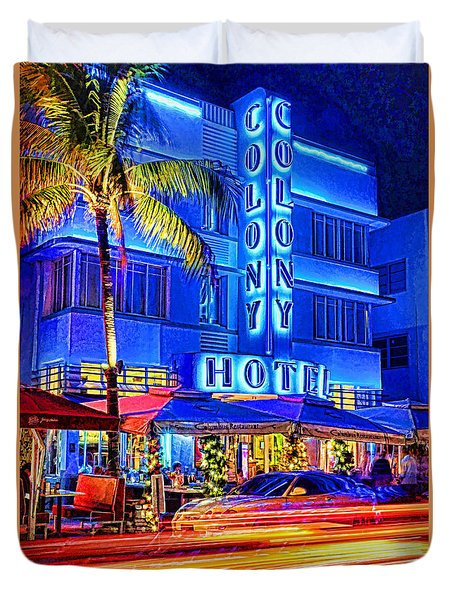 South Beach Art Deco Duvet Cover by Dennis Cox WorldViews