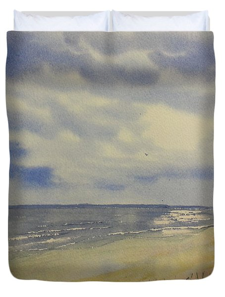 South Beach From The Dunes Duvet Cover