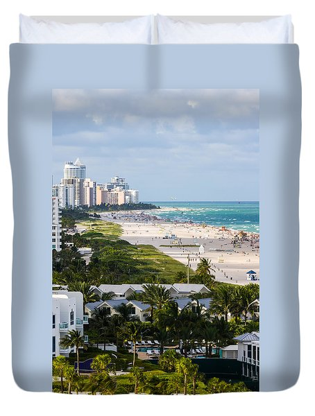 South Beach Late Afternoon Duvet Cover