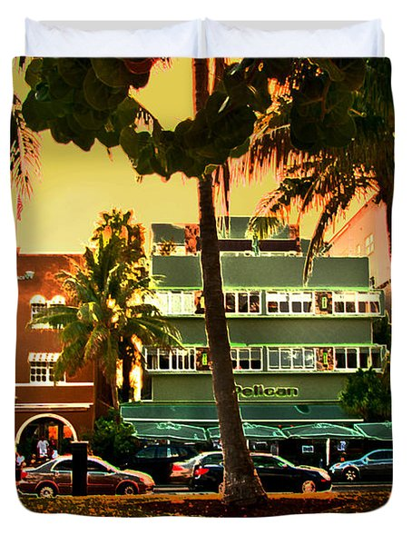 South Beach Ocean Drive Duvet Cover
