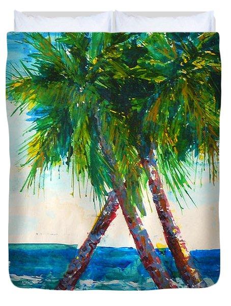 South Beach Palms Duvet Cover
