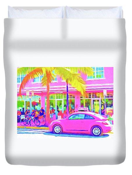 South Beach Pink Duvet Cover by Dennis Cox WorldViews