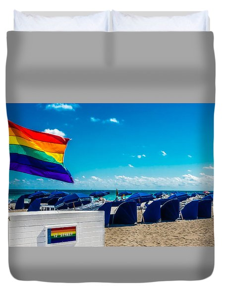 South Beach Pride Duvet Cover