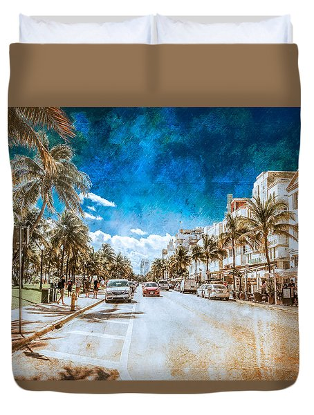 South Beach Road Duvet Cover