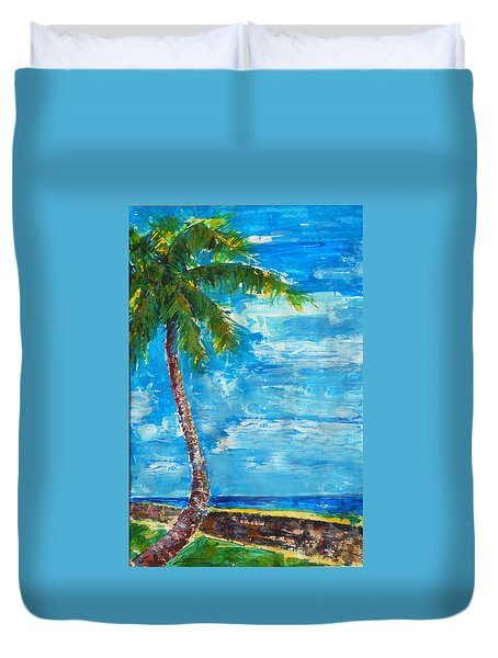 South Beach Wall Duvet Cover