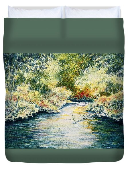 South Branch Of The Little Wolf Duvet Cover by Carolyn Rosenberger