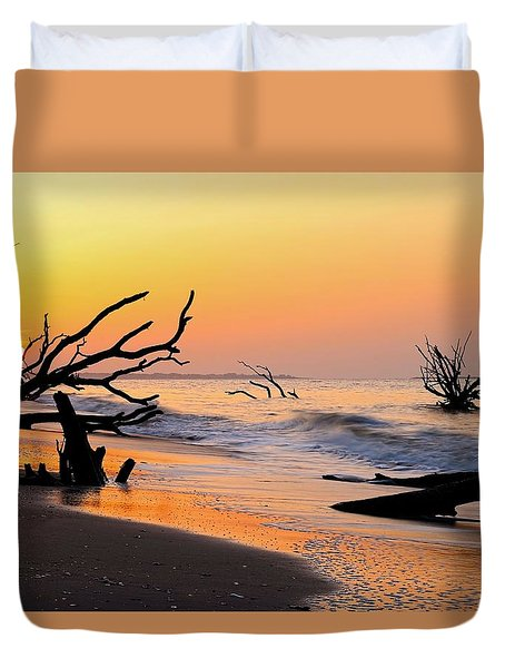 South Carolina Boneyard Beach Duvet Cover