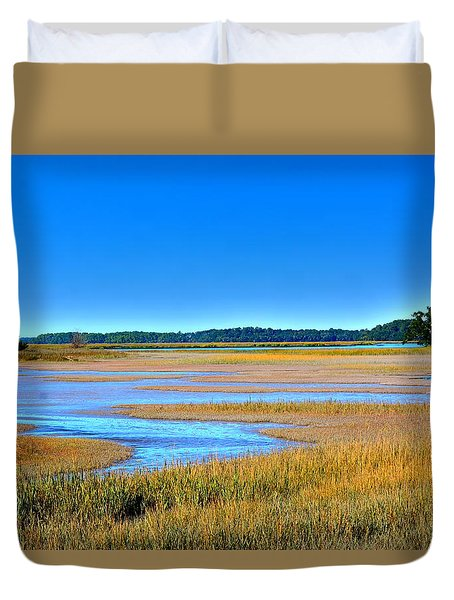 South Carolina Lowcountry H D R Duvet Cover