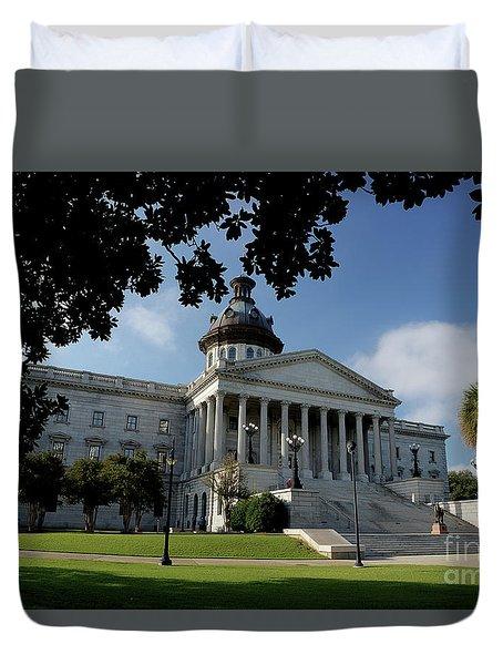 South Carolina State House 2 Duvet Cover by Michael Eingle